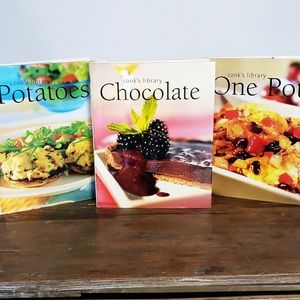3 Cook's Library Cookbooks Recipes Kitchen Books